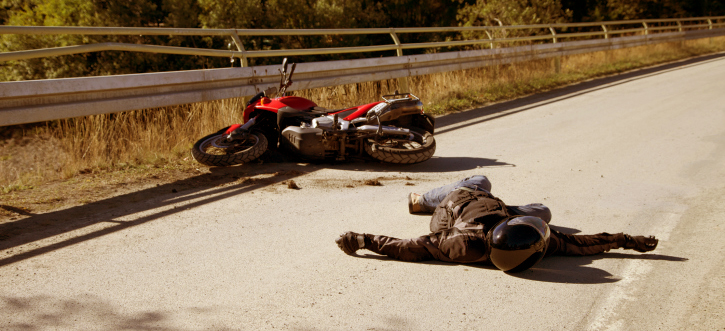 Accident with motorcycle